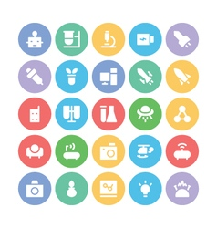 Science colored icons 4 vector