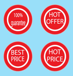 Label sticker best and hot price vector