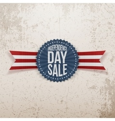 Independence day sale textile emblem vector