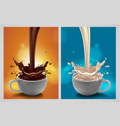 Abstract background with chocolate and milk vector