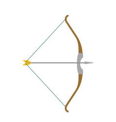 Arrow and bow cartoon vector