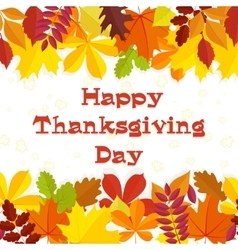 Autumn background traditional thanksgiving day vector