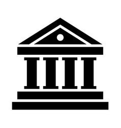 bank icon vector image vector image