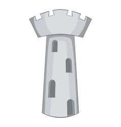 Beautiful old castle icon cartoon style vector