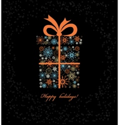 Christmas gift boxe from colored snowflakes vector image vector image