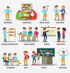 coaching characters set vector image vector image