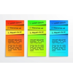 Colorful banners Design template Infographic EPS vector image