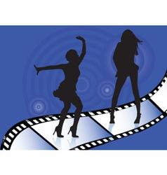 dancers on film vector image vector image
