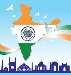 happy independence day india banner vector image