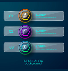 infographic menu options background vector image