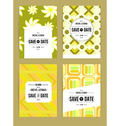 Invite template set vector image vector image