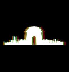 Isolated new delhi cityscape vector