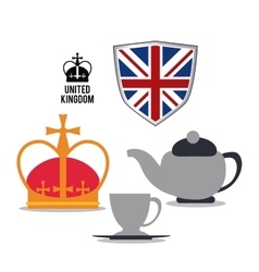 k icon United kingdom design graphic vector image