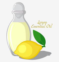 Lemon essential oil vector