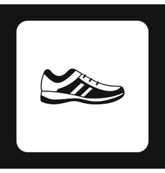 Mens sneakers icon simple style vector image vector image