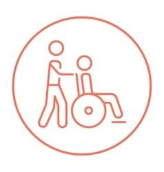 Nursing care line icon vector