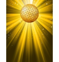 party banner with disco ball vector image vector image