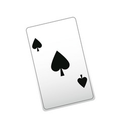 Poker ace card playing casino vector