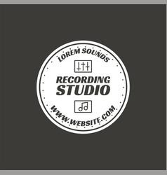 recording studio label badge emblem logo vector image vector image