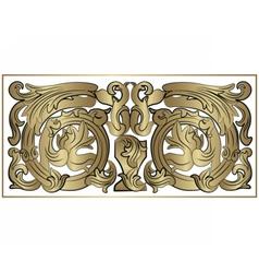 Renaissance royal classic ornaments vector