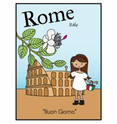 rome italy vector image