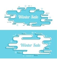 Set of festive winter banner vector image vector image