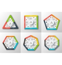 Set of geometric shapes for infographic vector image