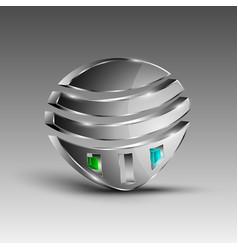 Shiny futuristic emblem vector