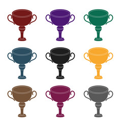 silver award winner of the competitionthe cup for vector image vector image
