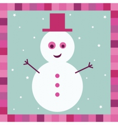 snowman greeting card vector image vector image