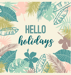 summer tropical design template vector image