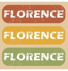 Vintage florence stamp set vector