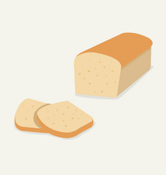 whole wheat bread flat bread loaf vector image vector image