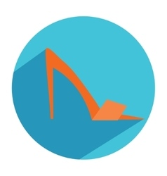 Woman pumps fashion shoes icon in flat style with vector image