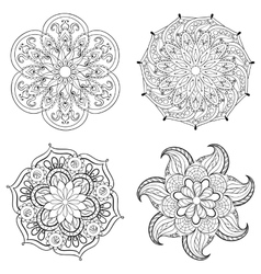 Zentangle stylized tribal Arabic Indian Mandala vector image vector image