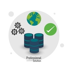 Data center icon proffesional solution vector