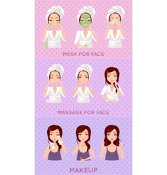 Skin Care Set vector image