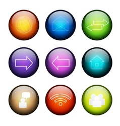 Set of social media buttons vector image
