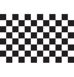 Checkered racing flag correct size color vector image
