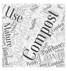 Store bought fertilizer versus mature compost word vector