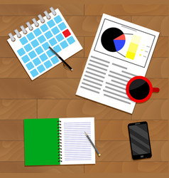 Strategic planning top view vector