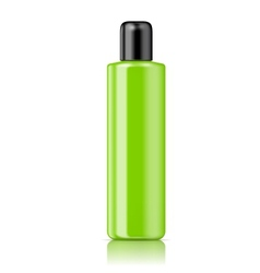 Color tubular bottle template vector