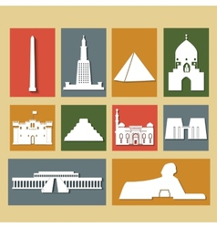 Landmarks of egypt vector