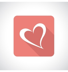 Heart icon with shadow vector