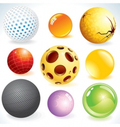 3d balls vector image vector image