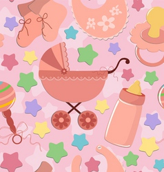 Seamless background for infant vector