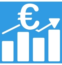 Euro business chart icon vector