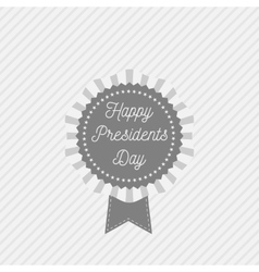 Presidents day emblem with text and ribbon vector