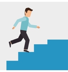 Climbing stairs design vector