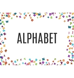 Abstract black alphabet ornament frame isolated on vector